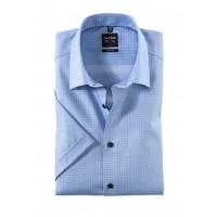 Сорочка голубой микродизайн