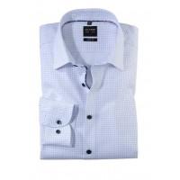 Сорочка бело-синий микродизайн