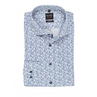 Сорочка бело-синий принт