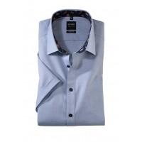Сорочка серо-синий микродизайн