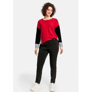Betty trousers black stripes