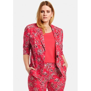 Пиджак красный принт