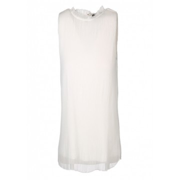 Блуза белая без рукав