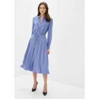Платье голубое макси