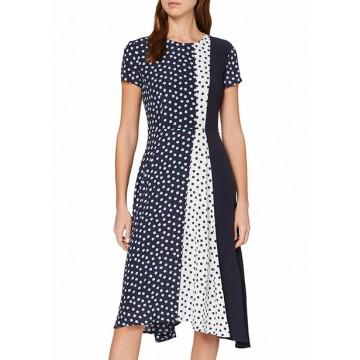 Платье тёмно-синее микродизайн