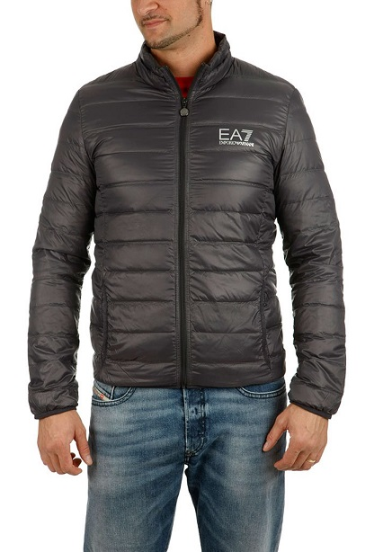 Down jacket demi dark gray