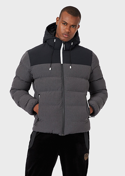 Jacket gray with a hood