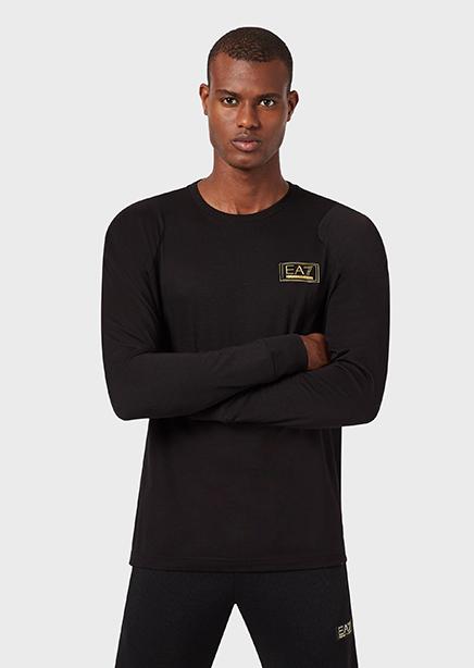 Long sleeve black print