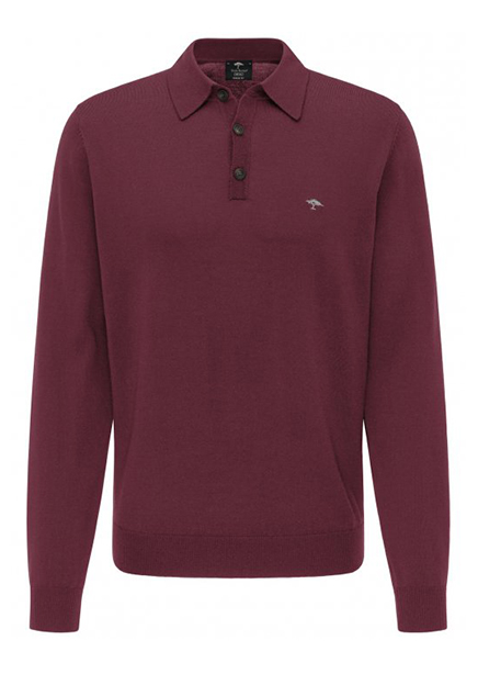 Bordeaux polo long sleeve