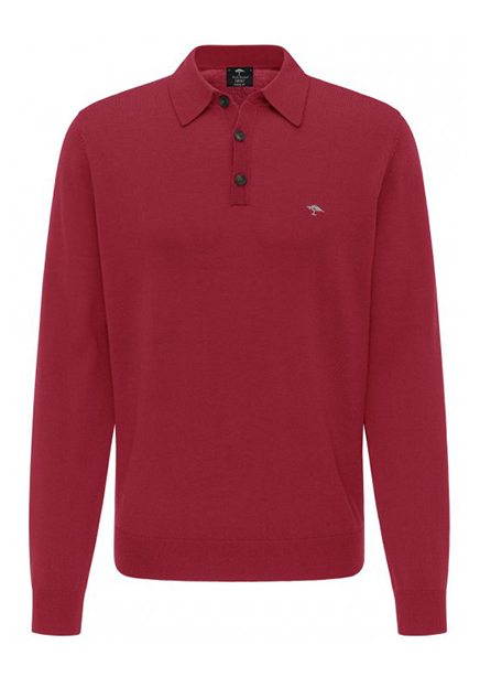 Polo marsala long sleeve