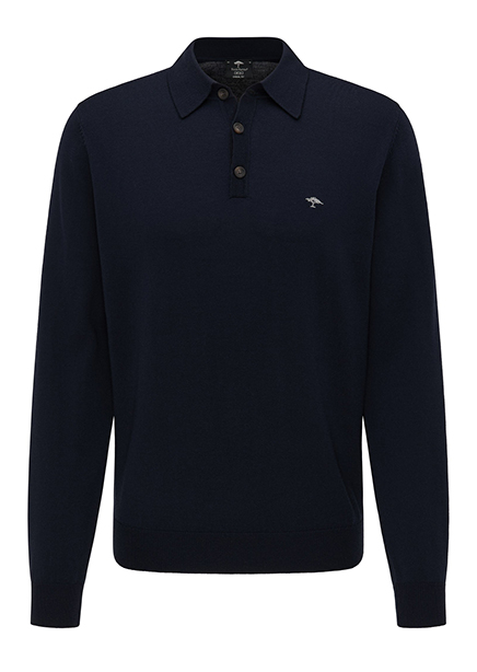 Polo shirt dark blue long sleeve
