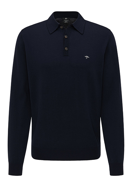 Polo shirt black long sleeve