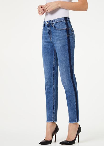 Raw Edge Jeans Light Blue