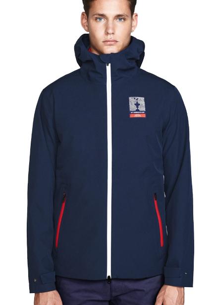 Set Windbreaker + Vest 75 cm with a hood navy blue