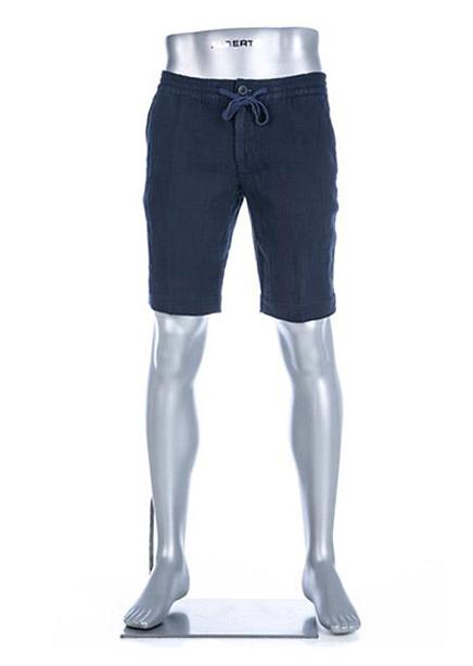 Shorts dark blue linen
