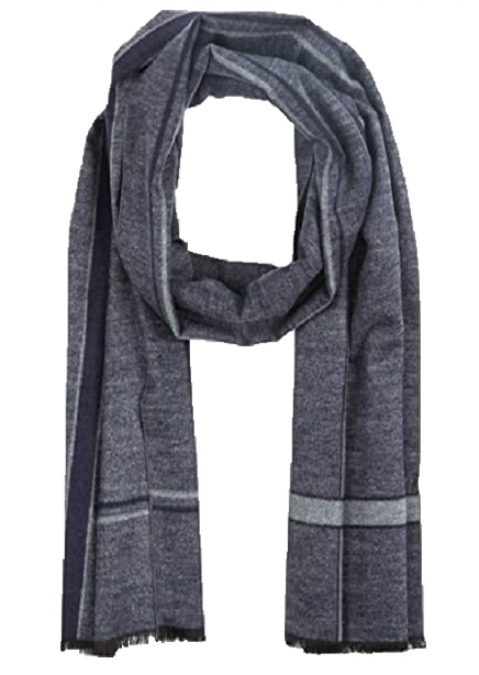 Scarf 180x31 gray-blue check