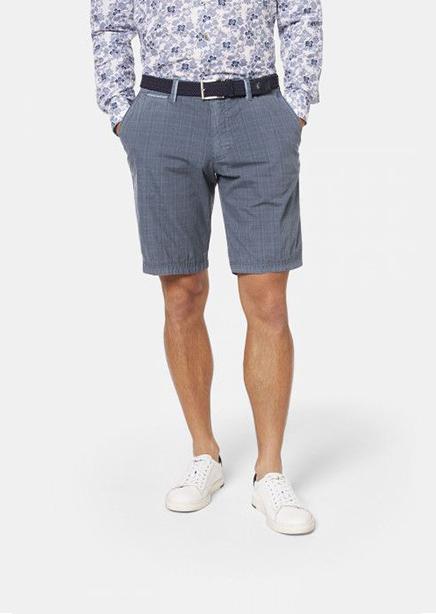 Shorts gray-blue cage