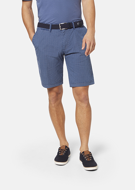 Shorts dark blue microdesign