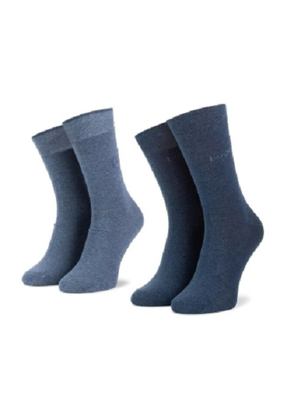 Set of socks with blue / blue 2 pairs
