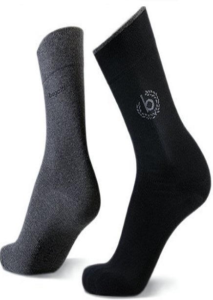 Set of socks with black + dark gray 2 pairs