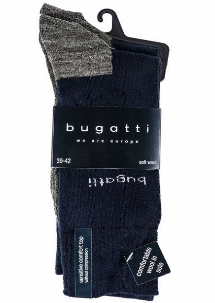 Set of socks with  dark blue-gray 2 pairs