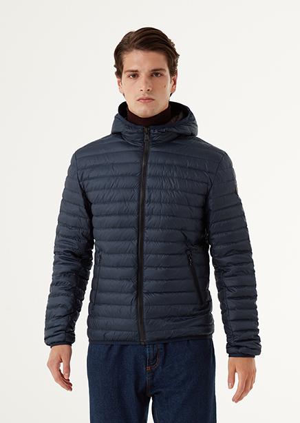 Down jacket dark blue light