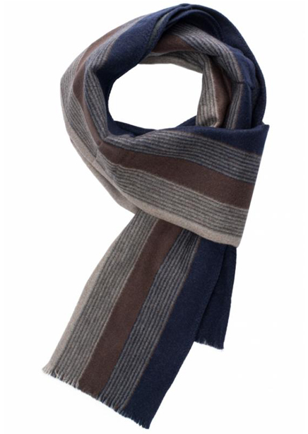Scarf blue-beige with stripe