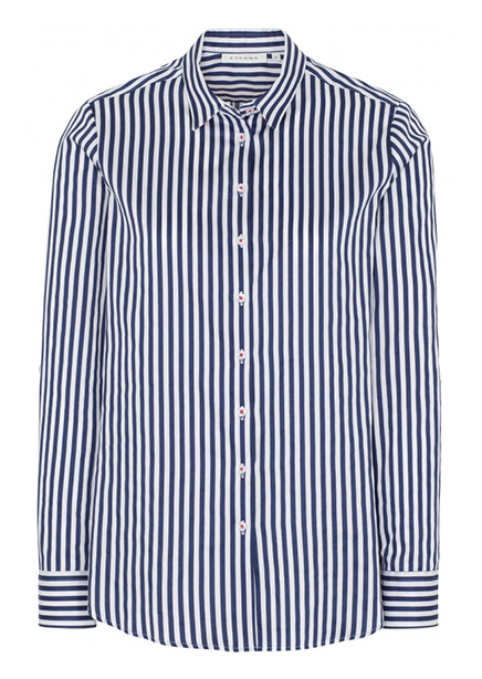 Shirt blue and white stripe
