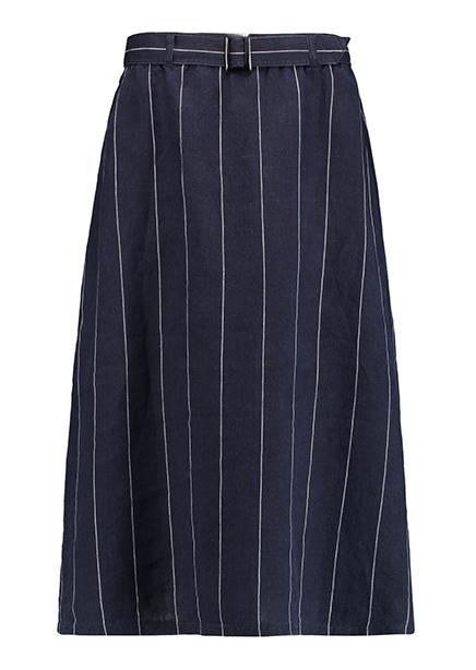 Maxi skirt. Blue strip
