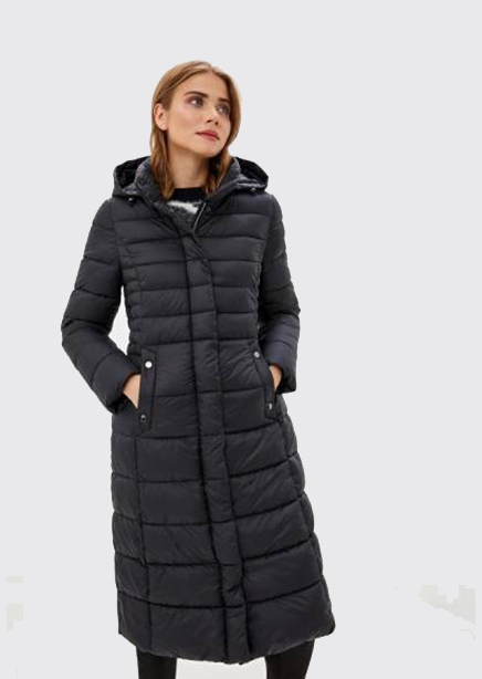 Black coat with a hood