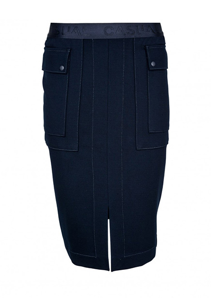 Midi skirt dark blue