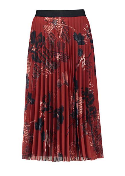 Skirt terracotta print