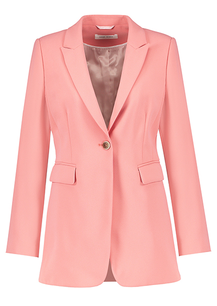 Jacket costume with pink