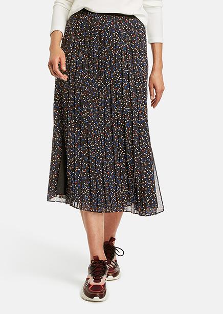 Skirt black micro design