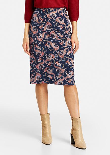 Skirt dark blue print