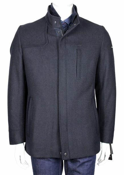 Basic Box coat navy blue