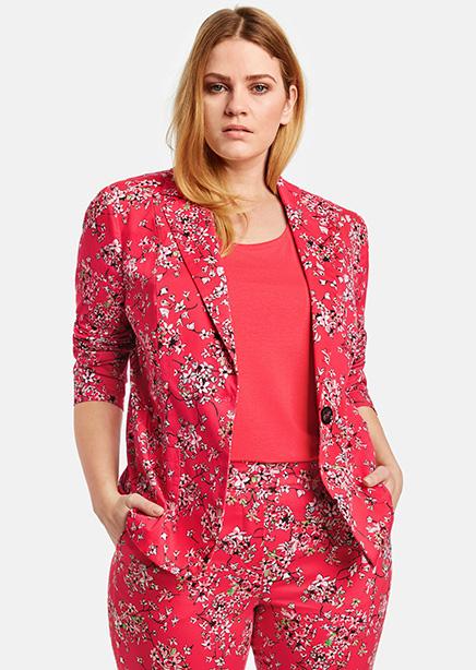 Jacket red print