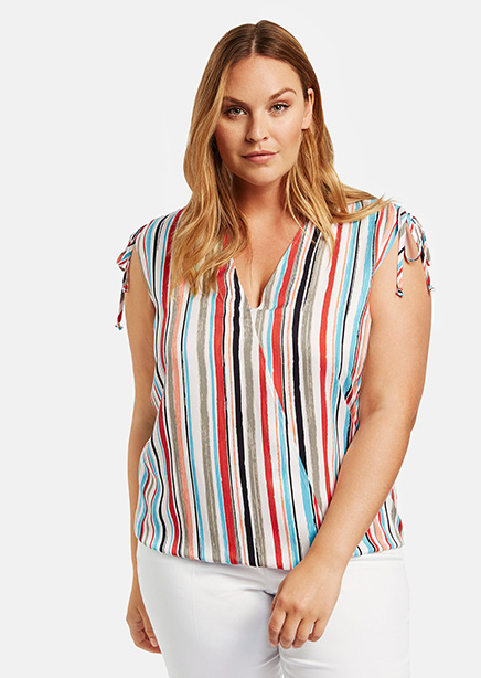 Blouse multicolor stripe