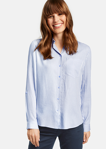 Shirt blue stripe